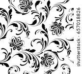 seamless floral pattern.... | Shutterstock .eps vector #657018826