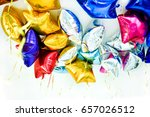 aluminum foil colorful balloons ... | Shutterstock . vector #657026512
