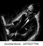 pianist plays the piano... | Shutterstock . vector #657027796