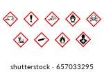 labeling chemical hazards | Shutterstock .eps vector #657033295