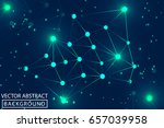 geometric graphic background.... | Shutterstock .eps vector #657039958