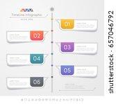 timeline infographics design... | Shutterstock .eps vector #657046792