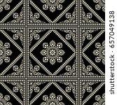 paisley   seamless wallpaper | Shutterstock .eps vector #657049138