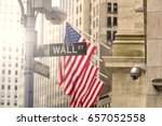 Wall Street Road Sign  New York ...