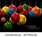 Many Christmas Balls With Shiny ...