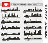 romantic skyline city... | Shutterstock .eps vector #657066148