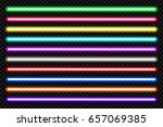 neon tube light pack isolated... | Shutterstock .eps vector #657069385