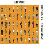 various of diversity people... | Shutterstock . vector #657069586