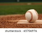 baseball on the pitchers mound... | Shutterstock . vector #65706976