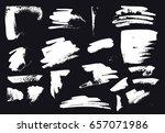 vector brush stroke. grunge ink ... | Shutterstock .eps vector #657071986