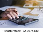 business accounting concept... | Shutterstock . vector #657076132