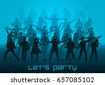let's party concept. set of... | Shutterstock .eps vector #657085102