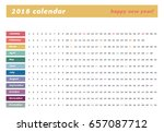 colorful calendar layout for... | Shutterstock .eps vector #657087712