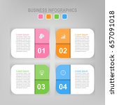 infographic template of four...   Shutterstock .eps vector #657091018