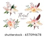 hand drawing isolated boho... | Shutterstock . vector #657094678
