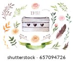 hand drawing isolated boho... | Shutterstock . vector #657094726