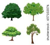 tree set | Shutterstock .eps vector #657102076