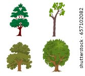 tree set | Shutterstock .eps vector #657102082