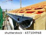 connector plastic drip gutters... | Shutterstock . vector #657104968