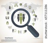 human resource   conceptual... | Shutterstock .eps vector #657111286
