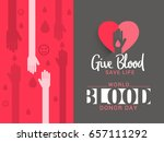 illustration of blood donate... | Shutterstock .eps vector #657111292