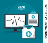 color poster medical research... | Shutterstock .eps vector #657118228