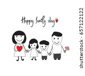 happy family day card with... | Shutterstock .eps vector #657122122