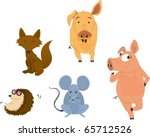 illustration of various animals ... | Shutterstock .eps vector #65712526