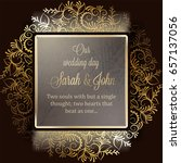 invitation card or background... | Shutterstock .eps vector #657137056