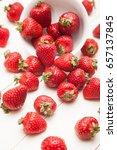 strawberry on white background | Shutterstock . vector #657137845