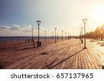 molos promenade on the coast of ... | Shutterstock . vector #657137965
