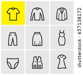 Stock vector clothes icons 657138172