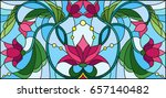 illustration in stained glass... | Shutterstock .eps vector #657140482