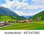view of bergun village and the... | Shutterstock . vector #657147382