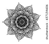 mandalas for coloring book.... | Shutterstock .eps vector #657154606