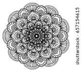 mandalas for coloring book.... | Shutterstock .eps vector #657154615