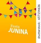 colorful invitation for festa... | Shutterstock .eps vector #657154636