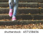 detail of a woman's shoes while ... | Shutterstock . vector #657158656