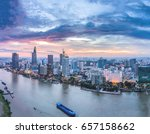 ho chi minh city  aerial view   ... | Shutterstock . vector #657158662