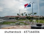 fountain in panama city with... | Shutterstock . vector #657166006