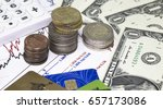 charts with retail market...   Shutterstock . vector #657173086