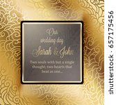invitation card or background... | Shutterstock .eps vector #657175456