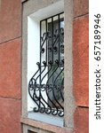 forged lattice on the window | Shutterstock . vector #657189946