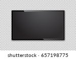 flat tv screen realistic vector ... | Shutterstock .eps vector #657198775