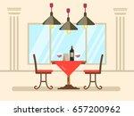 restaurant dinner. vector...   Shutterstock .eps vector #657200962