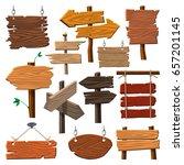 directory wooden signboard road ... | Shutterstock .eps vector #657201145