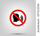 no speaking icon | Shutterstock .eps vector #657212356
