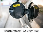 opened car fuel tank with the... | Shutterstock . vector #657224752