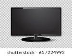 flat tv screen realistic vector ... | Shutterstock .eps vector #657224992