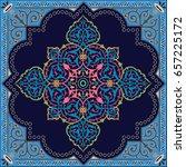 detailed floral scarf design ... | Shutterstock .eps vector #657225172